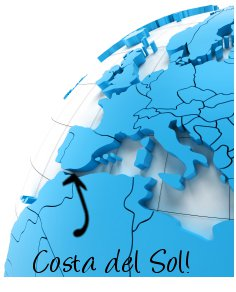 Costa del Sol, Spain on map