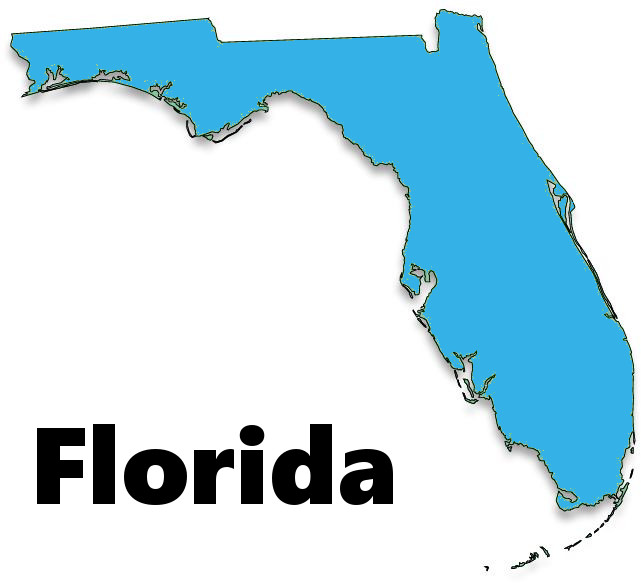Florida on map