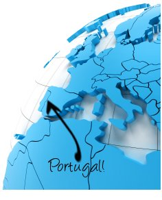 Portugal on map